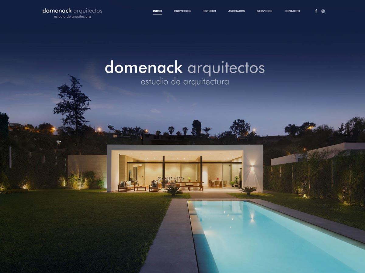 Domenack Arquitectos Página Web Lima Perú